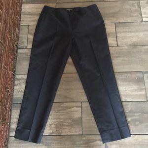 Lafayette 148 New York Stretch Cotton Navy Pants